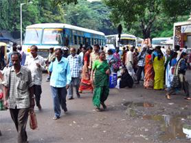 India, estación de autobus
