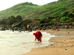 El sari en la playa